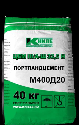 ЦЕМ III/А-Ш 32,5Н, (М400Д20)